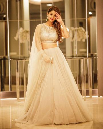 Vedhika was spotted at an event in Kaula Lampur in this resplendent lehenga from Seema Gujral - Fashion Models