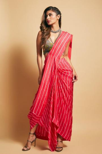 Stylist Sanjana Batra got the saree draped in an interesting way - Fashion Models