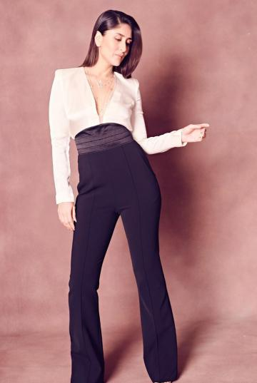 Not all can pull off elastic banded, high waist, bell-bottom pants, but Kareena has the game under her hand - Fashion Models