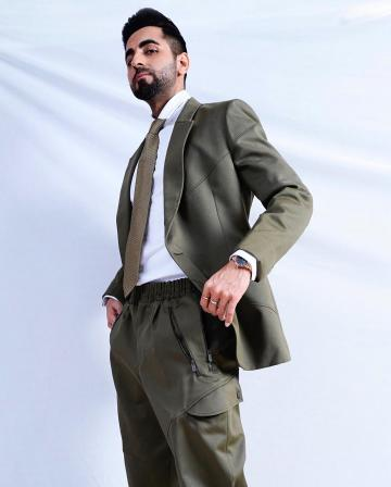 Ayushmann Khurrana attended an event recently in this winning khaki ensemble from Zegna - Fashion Models