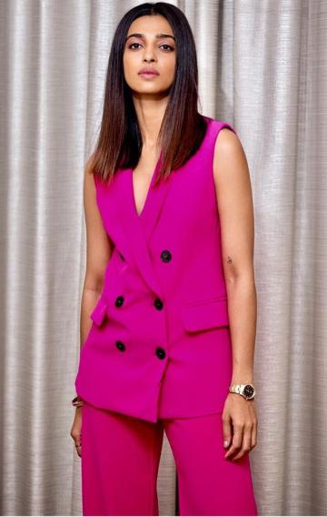 The double-breasted sleeveless blazer from Zara is not to be out on Indian streets because of the colour, obviously.  - Fashion Models