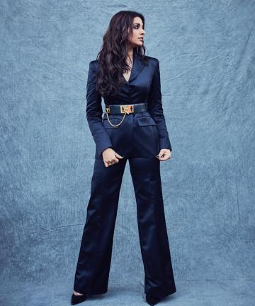 The belt from Celine is reminiscent of the military uniforms and is the statement piece in this outfit - Fashion Models
