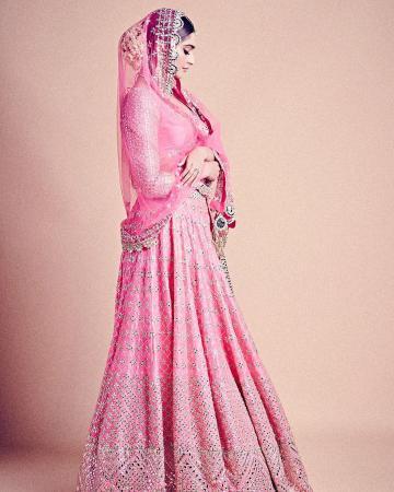 Sonam Kapoor walked the ramp for designer Abhinav Mishra this week in this intricate pink lehenga - Fashion Models
