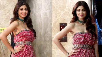 Shilpa Shetty's Zainab print outfit is a great dinnerwear option