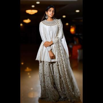Eesha Rebba was recently spotted in this lovely Silver palazzo set from the label, Agunj - Fashion Models
