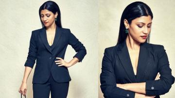 Konkona Sen Sharma goes all black at Mumbai Film Festival