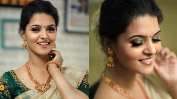 Swathista Krishnan's festive look is a winner