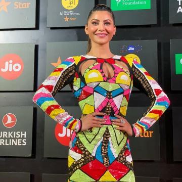 Urvashi Rautela wore this abstract print dress to the Mumbai Film Festival - Fashion Models