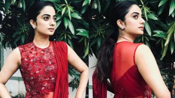 Namitha Pramod's red outfit is stately
