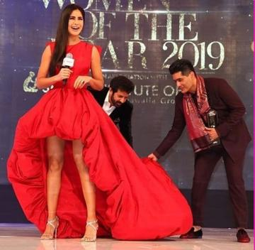 Katrina Kaif was looking hot at the Vogue women of the year awards in this hot high-low gown from Ashi studio - Fashion Models