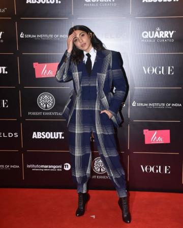 We're loving the harem-like cut of the pants which is usually not seen with suits - Fashion Models
