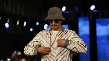 Ranveer Singh is weird on the ramp, but fashionable