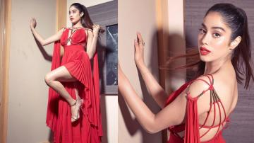 Jhanvi Kapoor is a Greek Goddess in this flowy red gown