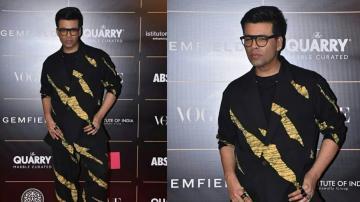 Karan Johar is stepping down from the fashion pedestal