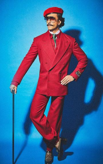 Ranveer's love for walking sticks is growing on us too. This one always looks great with suits - Fashion Models