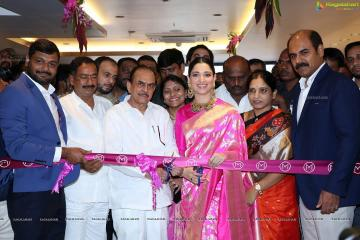 Tamannaah Bhatia inaugurated a new store of the Malabar Golds and Diamonds at Habsiguda looking brilliant in this pink saree from Raw Mango - Fashion Models