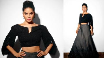 Sunny Leone decides black is a colour for celebrations