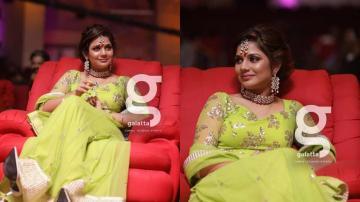 Aishwarya Dutta's green lehenga is cute