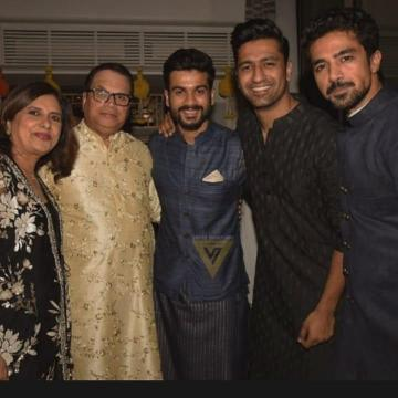Vicky Kaushal attended the Diwali Bash thrown by producer Ramesh Taurani wearing this simple yet beautiful kurta by designer Anita Dongre - Fashion Models