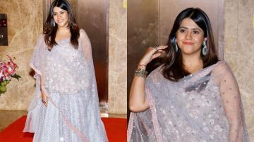 Ekta Kapoor's silverblue lehenga is splendid!