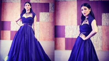 Shruthi Haasan's sweetheart neckline gown is our favourite this month!