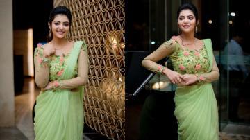 Pista green is Athulya Ravi's colour