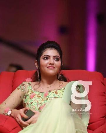 Athulya Ravi should wear more of pastel shades like this pista green outfit she wore to the Galatta Nakshatra Awards - Fashion Models
