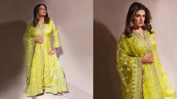 Raveena Tandon'd festive look is only so-so