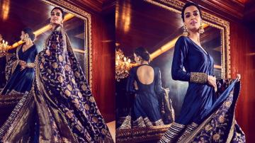Diana Penty got ready for Diwali in this regal embroidered Anarkali dress