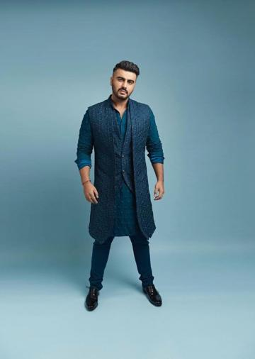 Arjun Kapoor was recently spotted in this blue awesomeness from designer Kunal Rawal - Fashion Models