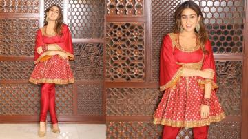 Sara Ali Khan's red Anarkali is loyal to Mughal fashion