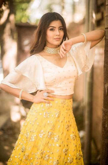 Our very own Bigil team captain was recently spotted in this top and skirt ensemble from Studio 149  - Fashion Models