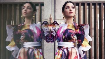 Tamannaah Bhatia's abstract print dress is picture perfect