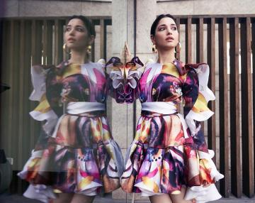 Tamannaah Bhatia was recently spotted in this rather cool dress from  Gauri and Nainika - Fashion Models