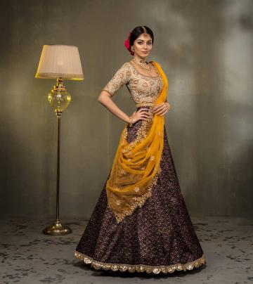 But Maybe we would have done away with the frilly hemline of the skirt and the floral work on the shawl is commonplace - Fashion Models