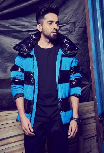 Ayushmann Khurrana walked into the Bigg Boss Hindi house wearing this dapper blue jacket from Onitsuka Tiger - Fashion Models