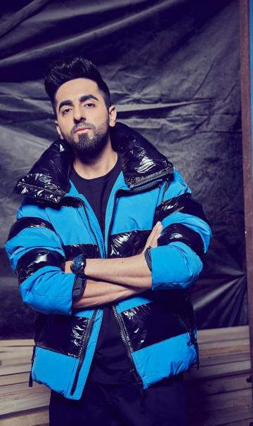Hair gelled all the way up is a great way to turn up to a dramatic show, Ayushmann! - Fashion Models