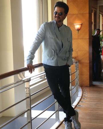 Anil Kapoor walked out recently in this powder blue jacket from Khanijo looking as ageless as ever - Fashion Models