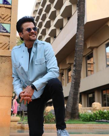 We love how Anil Kapoor carries the Chinese collared jacket well - Fashion Models