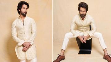 Shahid Kapoor in an elegant white kurta
