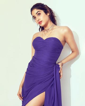 Jhanvi Kapoor was recently spotted in this offshoulder purple gown from Alina Anwar - Fashion Models