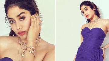 Jhanvi Kapoor is hot, as always, in purple