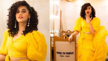 We can't stop smiling at Taapsee Pannu's bright yellow ensemble