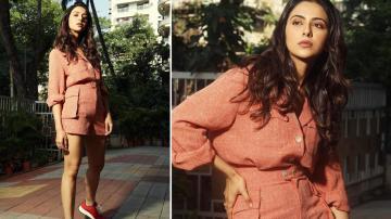 Rakul Preet's rust coloured ensemble is casual and cool