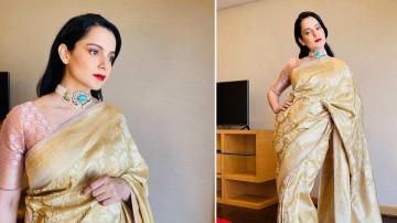Kangana Ranaut's Benarasi Saree is a winner