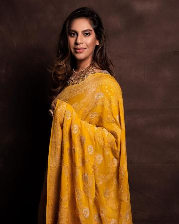 Ram Charan's better half Upasana Konidela was recently spotted in this handwoven yellow wonder that we love - Fashion Models