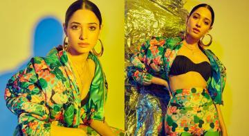 Tamannaah Bhatia's bralette and pantsuit ensemble is hot!