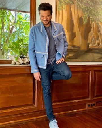 Anil Kapoor looks as young as ever in this powder blue number, which pairs well with the t-shirt from Track and Field - Fashion Models