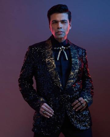 Karan Johar was recently drawing impressed glances, wearing this dapper this black-gold suit from Dolce & Gabbana - Fashion Models