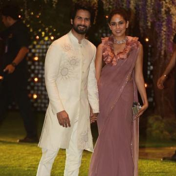 Shahid Kapoor was spotted at a party in this pristine sherwani from Rohit Bal  - Fashion Models